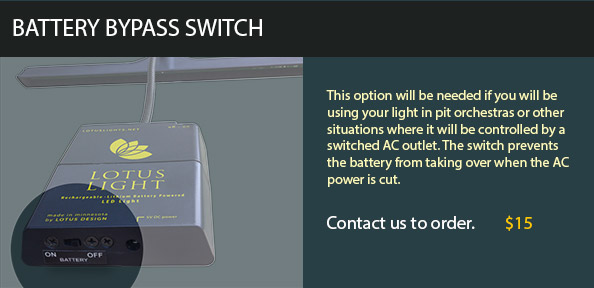 Lotus Light Battery Bypass Switch